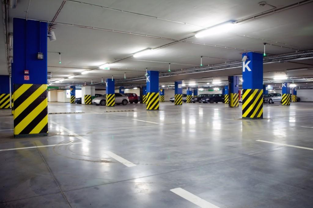 Led-lighting-application-underground-parking-garage